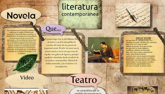 la literatura contemporánea